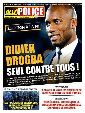 Couverture du Journal ALLO POLICE N° 549 du 27/07/2020