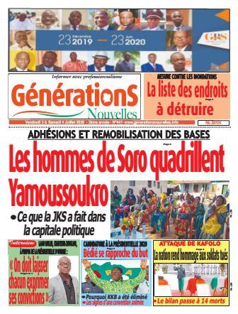 Couverture du Journal Générations nouvelles N° 447 du 03/07/2020