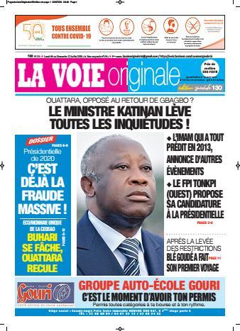 Couverture du Journal LA VOIE ORIGINALE N° 458 du 06/07/2020