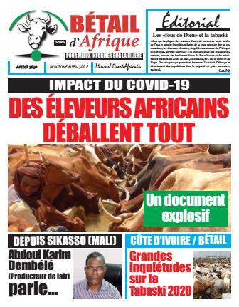 Couverture du Journal BÉTAIL D'AFRIQUE N° 5 du 17/07/2020