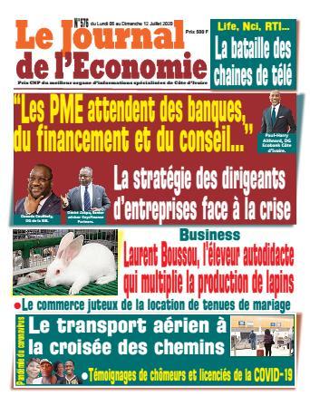 Couverture du Journal LE JOURNAL DE L'ÉCONOMIE N° 576 du 06/07/2020