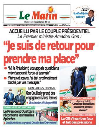 Couverture du Journal LE MATIN N° 283 du 03/07/2020
