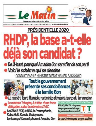 Couverture du Journal LE MATIN N° 290 du 11/07/2020