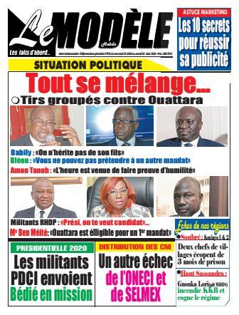 Couverture du Journal LE MODELE N° 25 du 29/07/2020