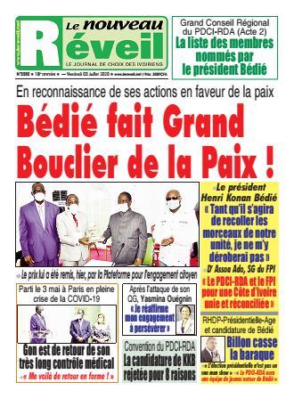 Couverture du Journal LE NOUVEAU RÉVEIL N° 5504 du 03/07/2020