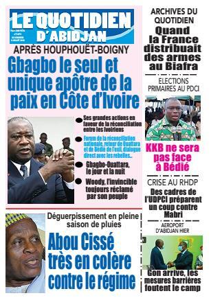 Couverture du Journal LE QUOTIDIEN D'ABIDJAN N° 2877 du 03/07/2020