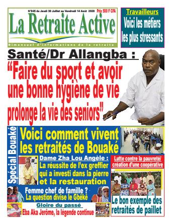 Couverture du Journal LA RETRAITE ACTIVE N° 45 du 30/07/2020