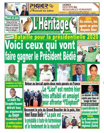 Couverture du Journal L'HÉRITAGE N° 232 du 03/07/2020