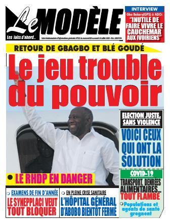 Couverture du Journal LE MODELE N° 22 du 08/07/2020