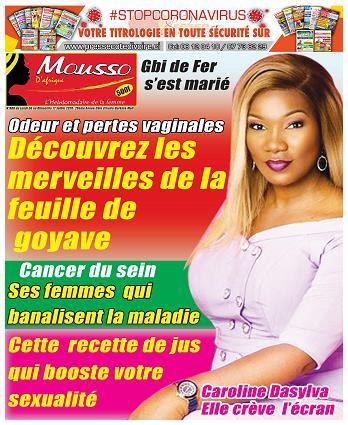 Couverture du Journal MOUSSO D'AFRIQUE N° 800 du 08/07/2020