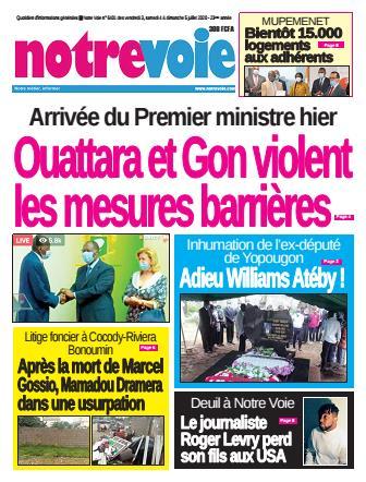 Couverture du Journal NOTRE VOIE N° 6403 du 03/07/2020