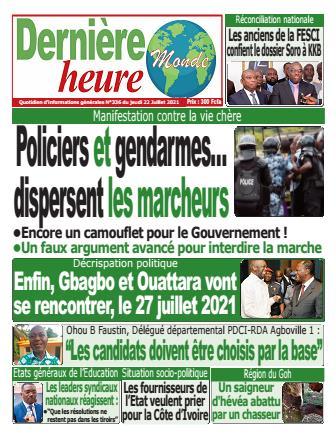 Couverture du Journal DERNIERE HEURE N° 337 du 22/07/2021