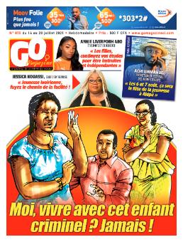 Couverture du Journal GO MAGAZINE N° 876 du 14/07/2021