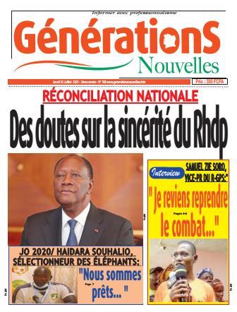 Couverture du Journal Générations nouvelles N° 709 du 22/07/2021