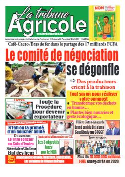 Couverture du Journal La Tribune Agricole N° 32 du 17/07/2021