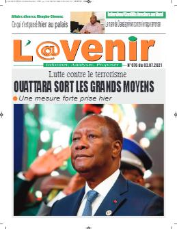 Couverture du Journal L'AVENIR N° 76 du 02/07/2021