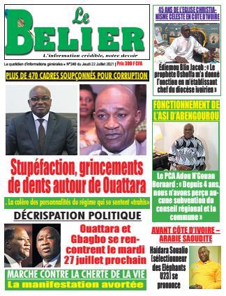 Couverture du Journal LE BELIER N° 241 du 22/07/2021