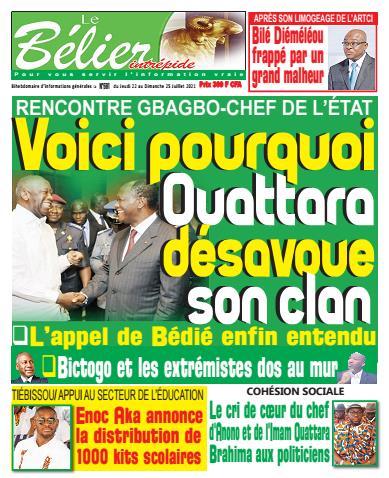 Couverture du Journal LE BÉLIER INTRÉPIDE N° 584 du 22/07/2021