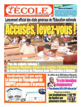 Couverture du Journal L'Ecole N° 37 du 19/07/2021