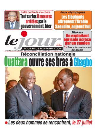 Couverture du Journal LE JOUR PLUS N° 4648 du 22/07/2021