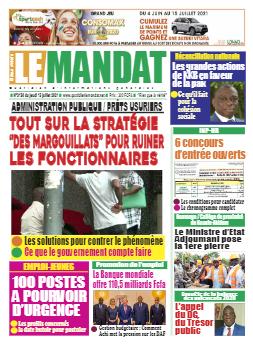 Couverture du Journal LE MANDAT N° 3156 du 15/07/2021