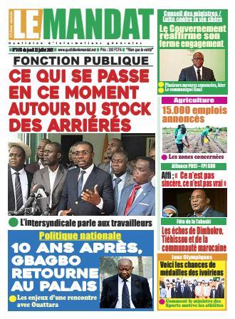 Couverture du Journal LE MANDAT N° 3161 du 22/07/2021