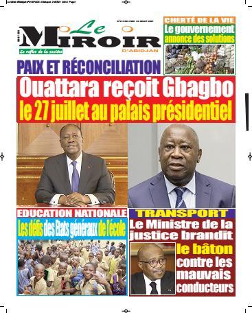 Couverture du Journal LE MIROIR D'ABIDJAN N° 219 du 22/07/2021