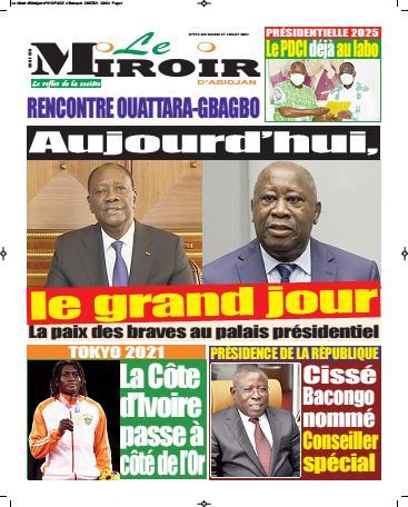 Couverture du Journal LE MIROIR D'ABIDJAN N° 223 du 27/07/2021