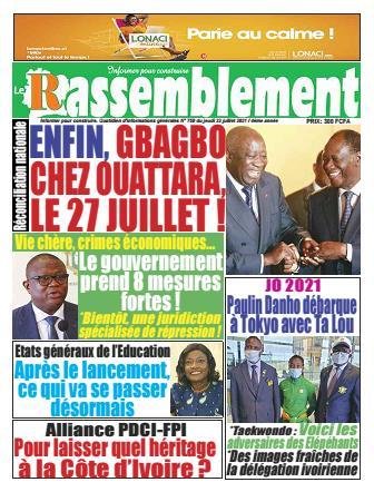 Couverture du Journal LE RASSEMBLEMENT N° 751 du 22/07/2021