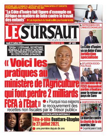 Couverture du Journal LE SURSAUT N° 1173 du 22/07/2021