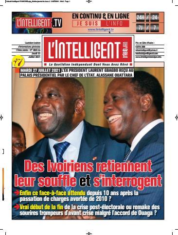 Couverture du Journal L'INTELLIGENT D'ABIDJAN N° 4869 du 22/07/2021