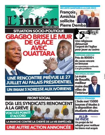 Couverture du Journal L'INTER N° 6909 du 22/07/2021