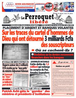 Couverture du Journal LE PERROQUET LIBERE N° 6 du 19/07/2021