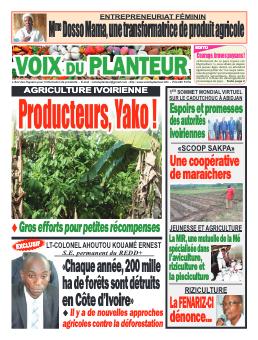 Couverture du Journal VOIX DU PLANTEUR N° 1 du 27/07/2021