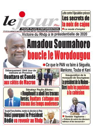 Couverture du Journal LE JOUR PLUS N° 4151 du 16/08/2019