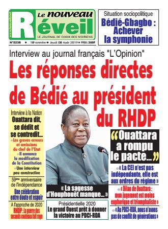 Couverture du Journal LE NOUVEAU RÉVEIL N° 5238 du 08/08/2019