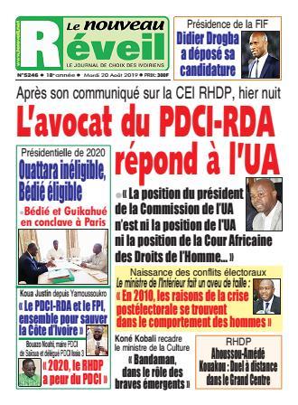 Couverture du Journal LE NOUVEAU RÉVEIL N° 5246 du 20/08/2019