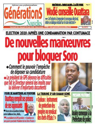 Couverture du Journal Générations nouvelles N° 484 du 28/08/2020