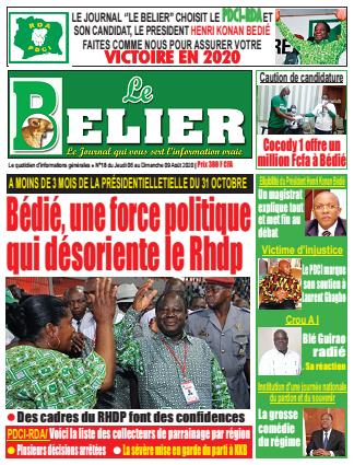 Couverture du Journal LE BELIER N° 4 du 06/08/2020