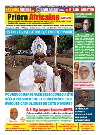 Couverture du Journal PRIERE AFRICAINE N° 28 du 28/08/2020