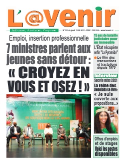 Couverture du Journal L'AVENIR N° 104 du 12/08/2021