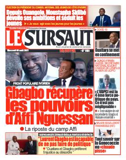 Couverture du Journal LE SURSAUT N° 1182 du 04/08/2021