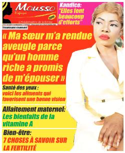 Couverture du Journal MOUSSO D'AFRIQUE N° 831 du 16/08/2021