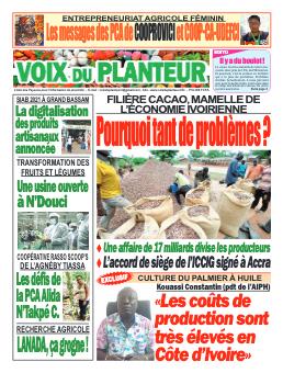 Couverture du Journal VOIX DU PLANTEUR N° 2 du 11/08/2021