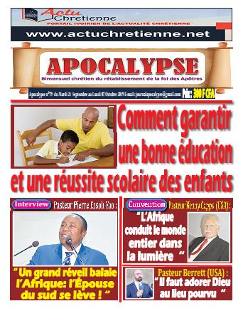 Couverture du Journal APOCALYSE N° 79 du 24/09/2019