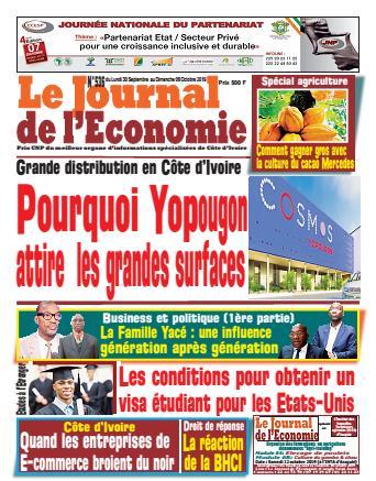 Couverture du Journal LE JOURNAL DE L'ÉCONOMIE N° 536 du 30/09/2019