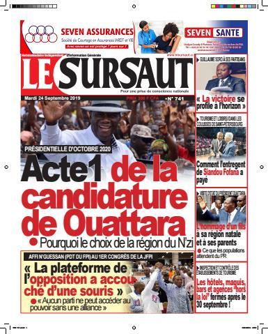 Couverture du Journal LE SURSAUT N° 741 du 24/09/2019