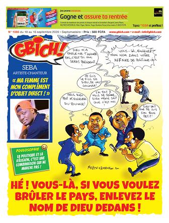 Couverture du Journal GBICH N° 1086 du 11/09/2020