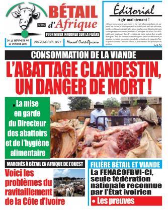 Couverture du Journal BÉTAIL D'AFRIQUE N° 6 du 23/09/2020