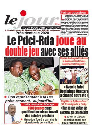 Couverture du Journal LE JOUR PLUS N° 4427 du 17/09/2020